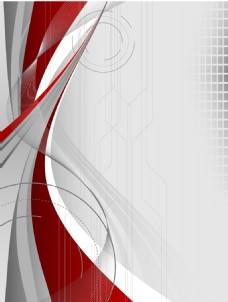 灰色质感红色线条背景