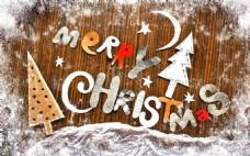 圣诞节饼干和字体图片