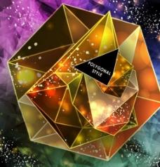 金色几何背景素材