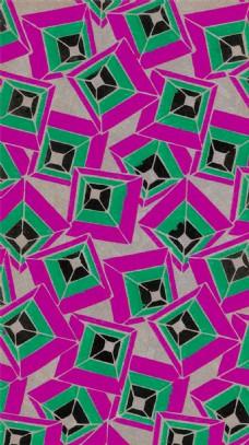 紫绿几何方形背景图片
