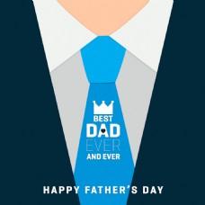 优雅寸衫领带插图父亲节背景