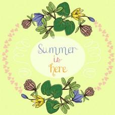 夏天元素装饰边框背景