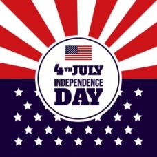 现代创意美国国旗独立日背景
