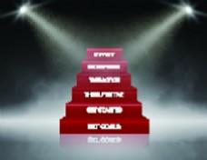 樓梯高級舞臺燈光矢量文件素材