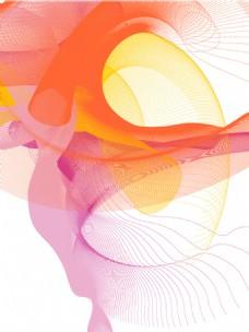 抽象线条背景 色彩线条