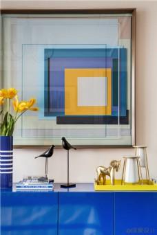 现代客厅摆件效果图