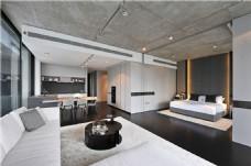 现代简约客厅茶几电视墙设计图
