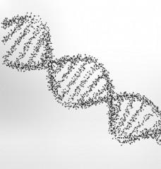 DNA点线连续抽象插图