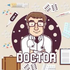卡通医生传单海报设计