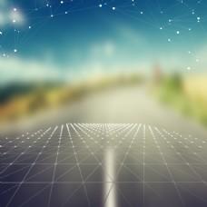 简约创意几何科技线条主图背景psd模板
