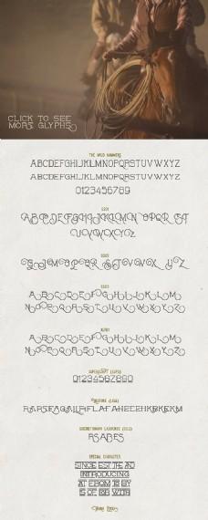 个性创意英文精选字体