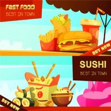 快餐美食横幅海报图片