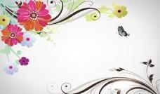 抽象矢量花朵背景