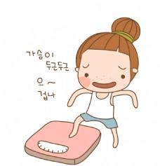 矢量韩国体重EPS