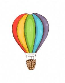 矢量卡通热气球EPS