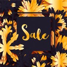 秋天金色花朵SALE图片