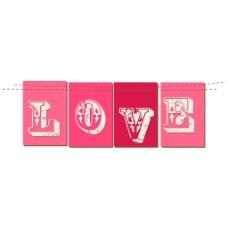 粉色爱情元素