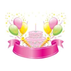 粉色蛋糕派对元素
