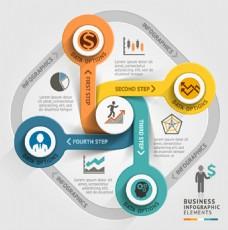 商务信息圆形图表背景图