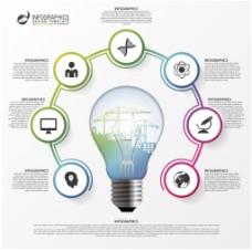 灯泡PPT信息图