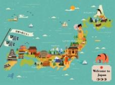 日本旅行地图