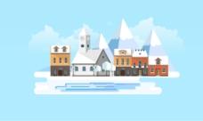 冬天里的房子