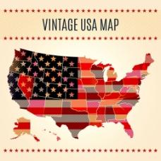 创意美国地图背景