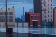 蓝色城市楼房设计图