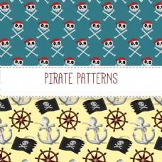 传统海盗元素装饰图案背景