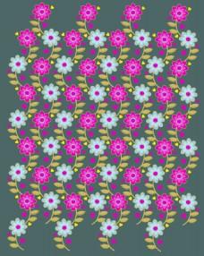 双色花朵背景