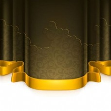 金色丝带背景素材