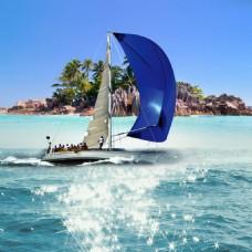 小岛船船帆高光水面素材