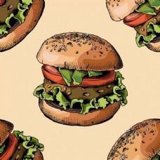汉堡背景素材