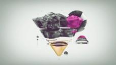 立体锥形几何背景图片