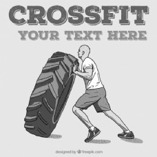 人一轮CrossFit的背景