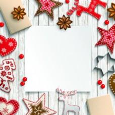 温馨圣诞节桌面矢量插画素材
