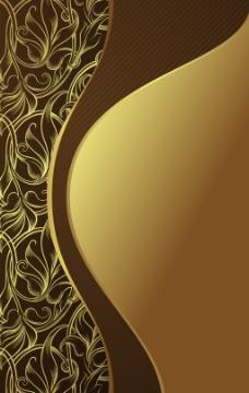 金色质感花纹背景