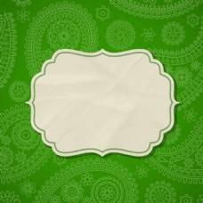 绿色花纹背景