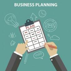 扁平风格工作业务规划计划插图背景
