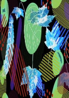 围巾数码印花图案