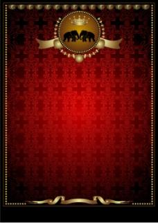 金边皇冠海报背景
