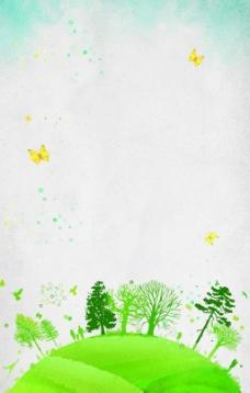 文艺清新环保树木背景素材