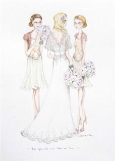 三款修身礼服设计图