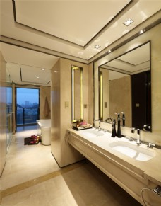 时尚卫生间洗手台设计图