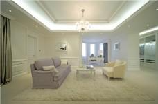 简约客厅茶几沙发设计图