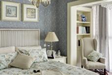 小清新卧室背景墙设计图