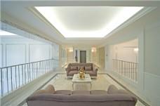 简约客厅吊顶沙发设计图