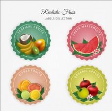 写实风格水果标签贴纸