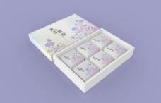 月饼盒-清香秋韵(蓝紫)(六粒装)