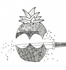 菠萝创意元素